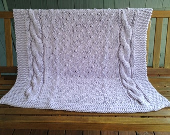 Cable Baby Blanket