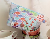 Cosmetic Makeup Bags, Bridesmaid gifts, Kawaii bags by Tomodachi Kitty (Ready to Ship) SALE, SALE, SALE