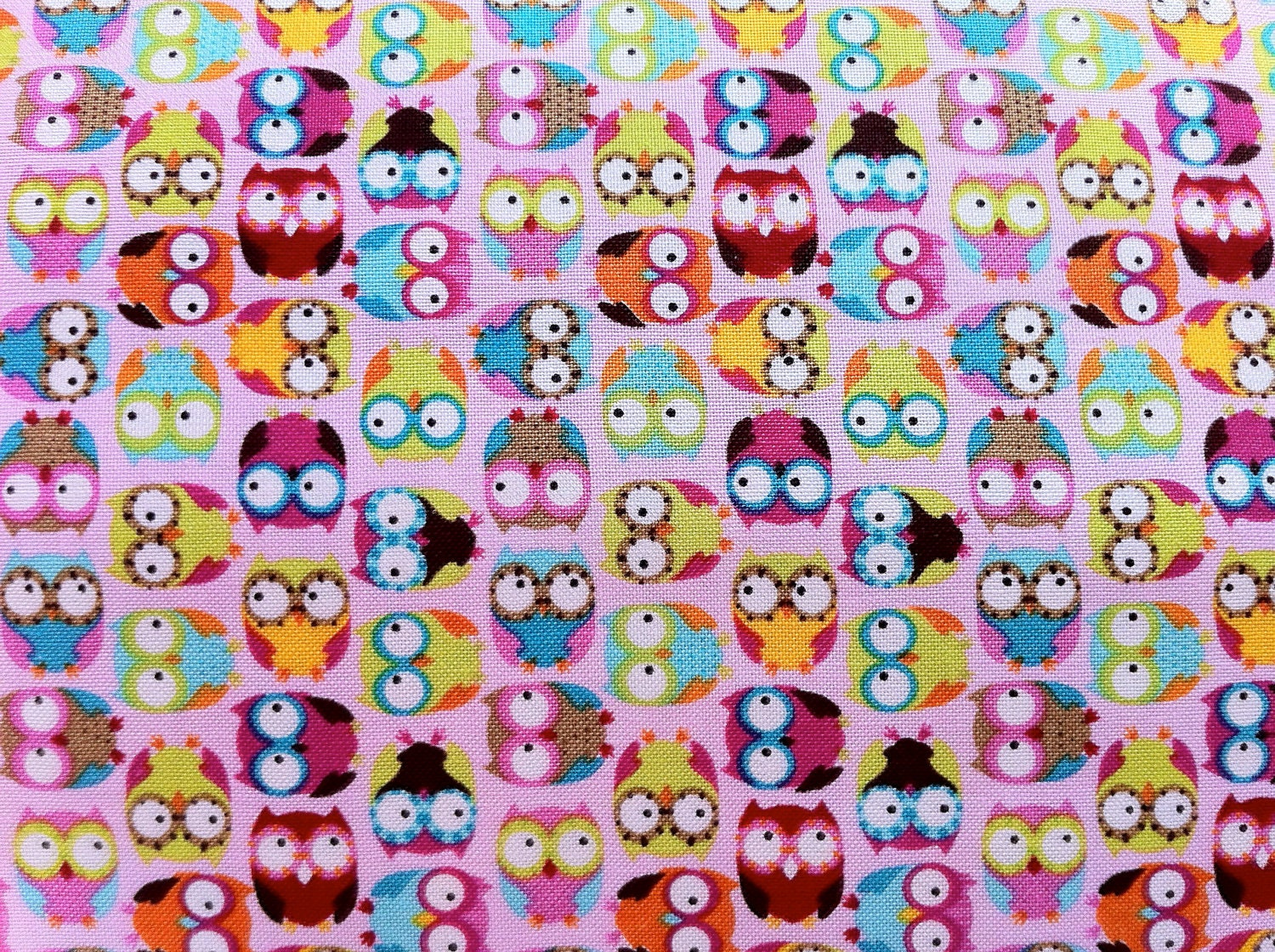 Tossed Mini Owl Fabric in pink Novelty-Juvenile Collection by