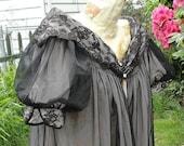 Vintage Black Babydoll Bedjacket