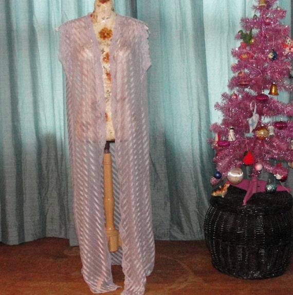 Sheer Shimmery Lavender Robe