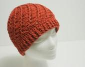 Crochet Hat: Copper Swirl Egyptian Cotton Beanie ON SALE