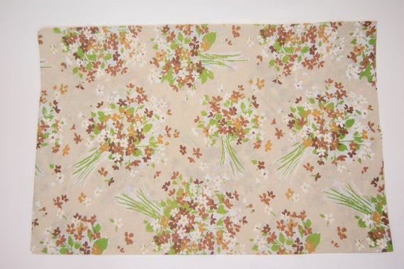 Brown Bouquet Vintage pillow case