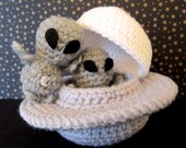 Crochet Pattern: Amigurumi UFO, Grayboy & Spacecraft
