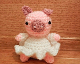 Crochet Pattern: Amigurumi Pig, Little Miss Rosalie