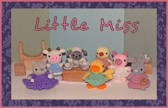 Crochet Pattern: Amigurumi Dolls, Little Miss Collection