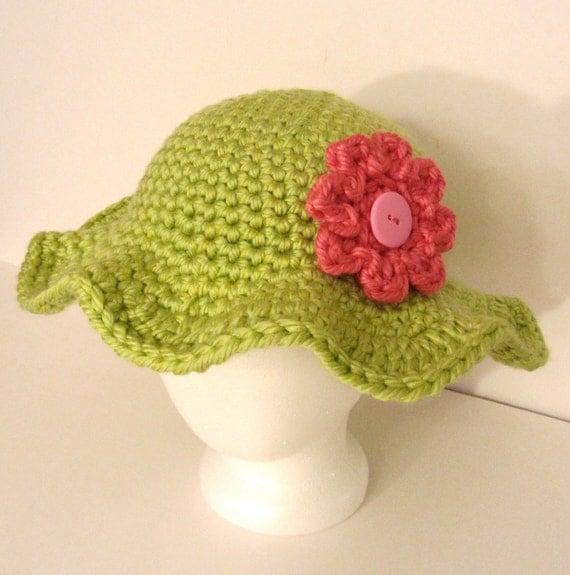 Crochet Hat Pattern: Garden Party Sun Hat