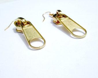 Gold Zipper Earrings SALE
