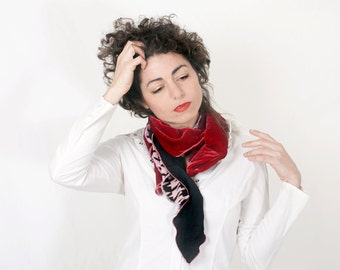 Red Woman Scarf Necktie