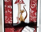 PARISIAN cat Digital Stamp Art