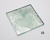 "American Brilliant Hand Cut 6"" x 6"" Crystal Tile - Diamond Heart"