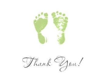 Baby Footprints Thank You Notecards