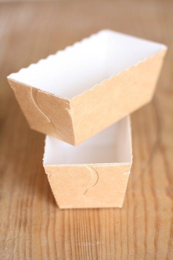 5 Stampini per mini cakes  ( 5 Mini paper baking molds/ 5 mini loaf pans )