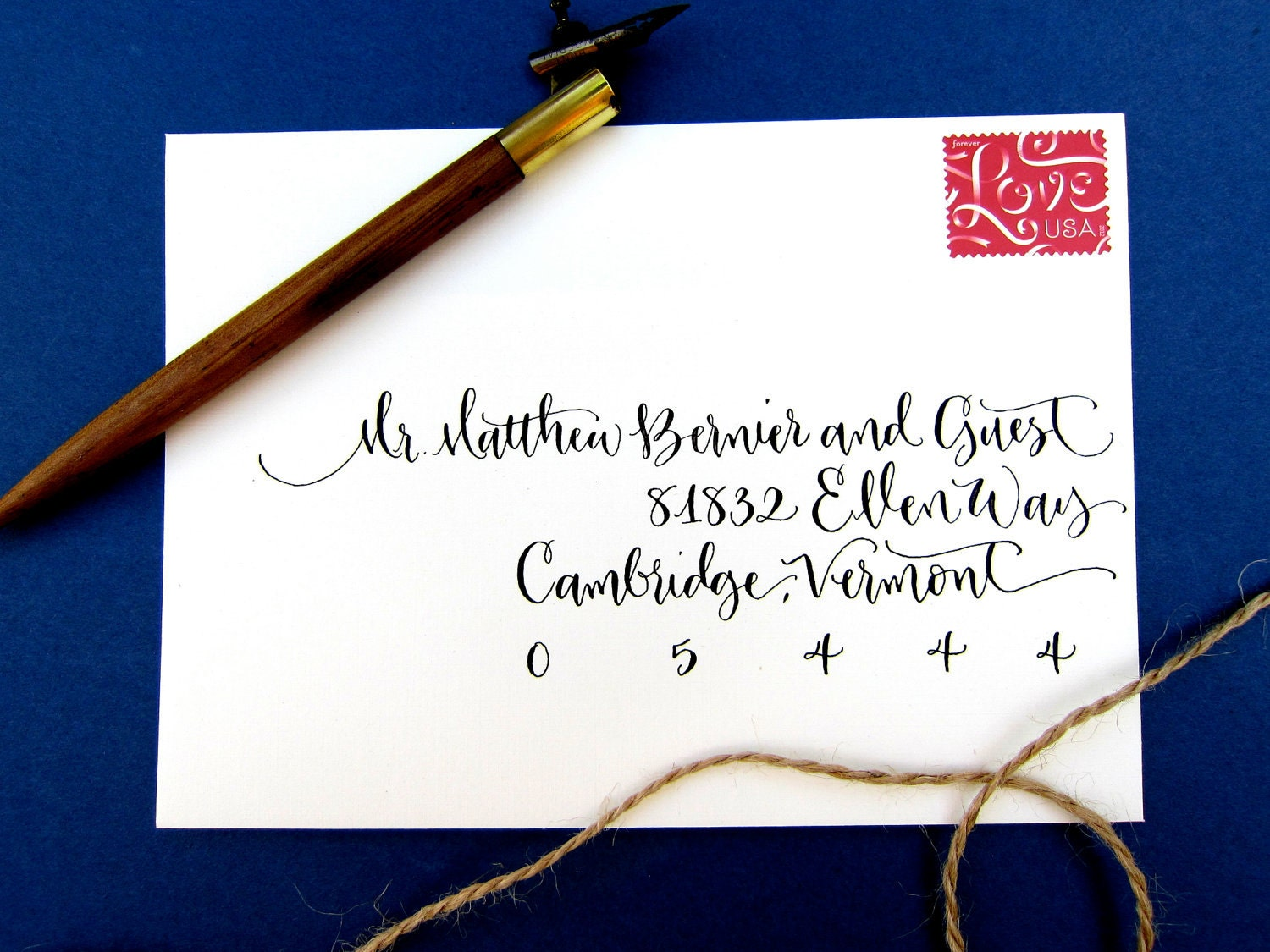 Modern Or Classic Hand Calligraphy Envelope By Angeliqueink