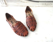 vintage Basic Editions Boho Huarache woven leather flats 8.5