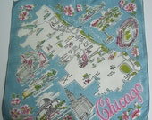 Vintage Chicago Illinois State Hankie