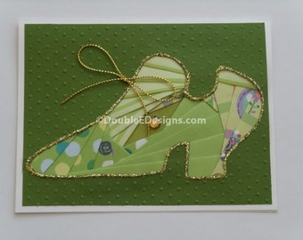 Thinking of You  Shoe Iris Folded Card