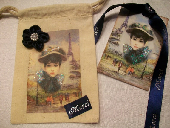 Harrison Fisher Girl Tag In A Bag   ( TB 004 )