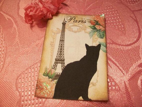 Parisian Feline Tags  ( Set of 6 )   TG  046