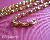 15 FT - gold plated solid brass cable chain 5x3mm