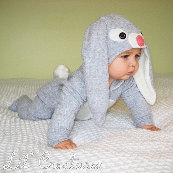 0 3m Bunny Rabbit Baby Onesie Costume With Hat Lil