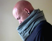 Mens Scarf - Long Linen Scarf - Industrial Olive Drab Eco Friendly Linen