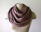 Extra Long Scarf - Cocoa Brown Cotton Jersey Knit Scarf - Shawl Extra Large Scarf