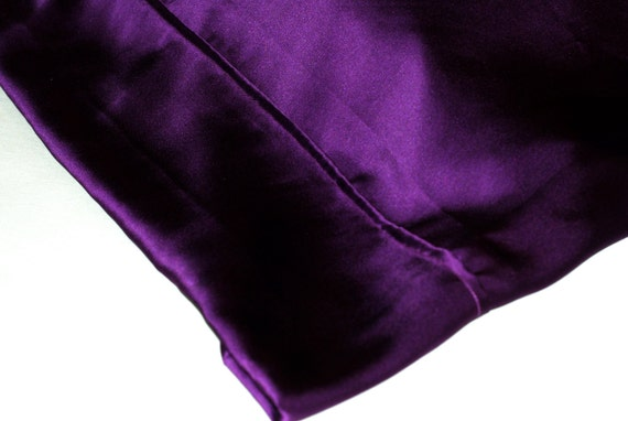 Dusky Purple Charmeuse Silk Standard Pillowcase, French Seamed, Hypoallergenic, For Sensitive Skin, Hair Care and Anti-Aging