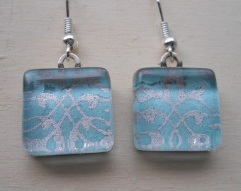 Elegant Blue and Silver Earrings