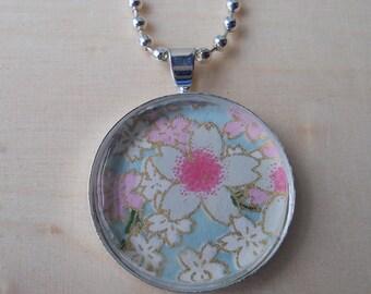 Round Cherry Blossom Pendant