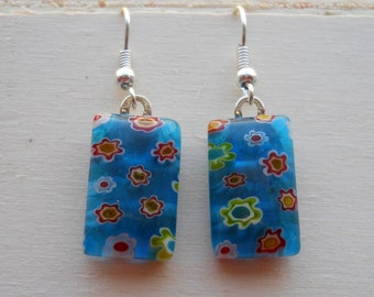 Colorful flower earrings