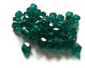 Teal Bicone Beads (25)