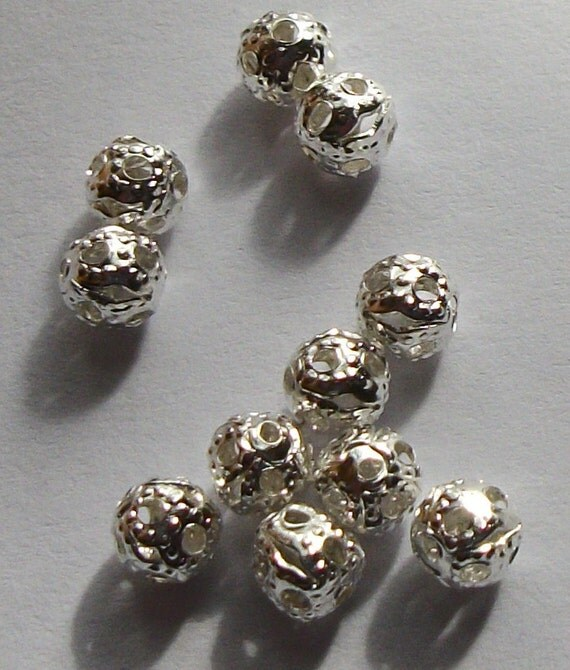 Filigree Spacer Beads 4mm (50)