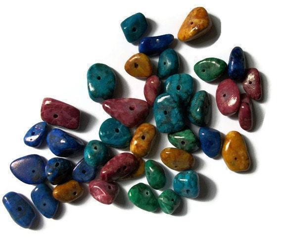 "Multi Color Howlite Beads (7 "" Strand)"