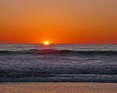 California Sunset Photo 8x10
