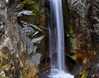 Mt Rainier Waterfall Photo 8x10