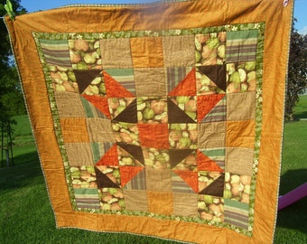 Squares and triangles in fall colours - FREE SHIPPING in North America on this item