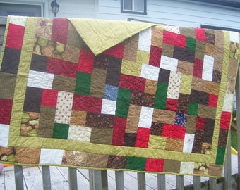 Hopscotch quilt in bright fall colors