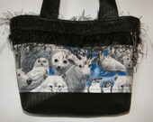 Arctic Itzy Bitz Tote with bears, seals, foxes, owls, etc.  by Bellerina Creations (purse, handbag, pouch)