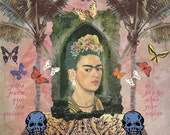 Frida Kahlo - Wings to Fly -  Limited Edition Giclee Print 5x7