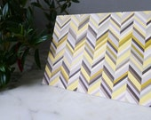 Multicolor Chevron Blank Note Card, Set of 10