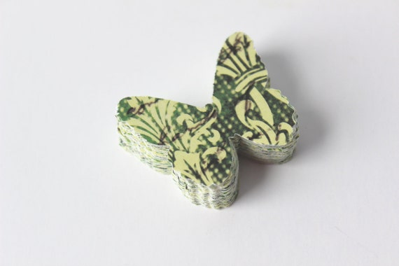 Butterfly Die Cuts - Rustic - Moss Green - Forest