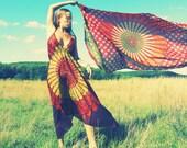 Handmade Hippie Dress, Bohemian, Scarf Dress, Chakra, Organic, Fairy Dress, Tapestry dress, fall dress, XS, Small