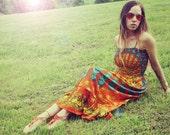 Handmade Fall Pumpkin Hippie Dress, Long Bohemian Dress, Maxi, ECO Dress, Tapestry, Scarf Dress, Chakra, Bridesmaid Dress