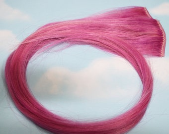 Light Pastel Purple, Human Hair Extensions, Colored Hair Extension Clip, Hair Wefts, Clip in Hair, Tie Dye Hair Extensions