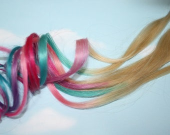 Pastel Dip Dyed iTips, Pre Bonded Keratin Tip, Human Hair Extensions. Colored Hair, Dip Dyed Hair, Festival, Tie Dye Hair Extensions
