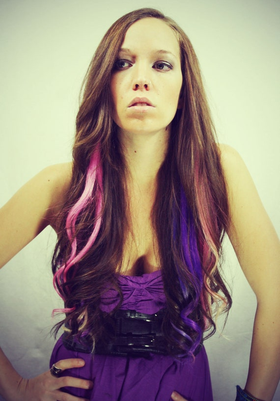 Rainbow Human Hair Extensions Colored Hair By Cloud9jewels