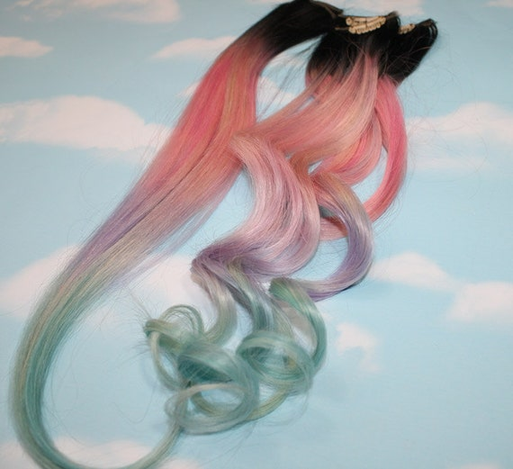 Light pastel dip dyed hair clip in hair extensions tie dye light pastel dip dyed hair clip in hair extensions tie dye tips black hair hair wefts human hair extensions hippie hair pink hair pmusecretfo Images
