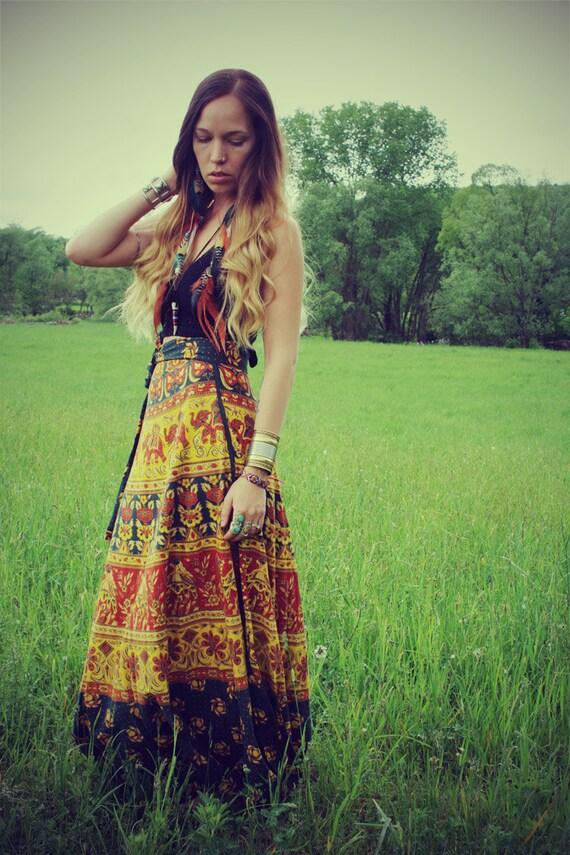 Hippie Tapestry Green