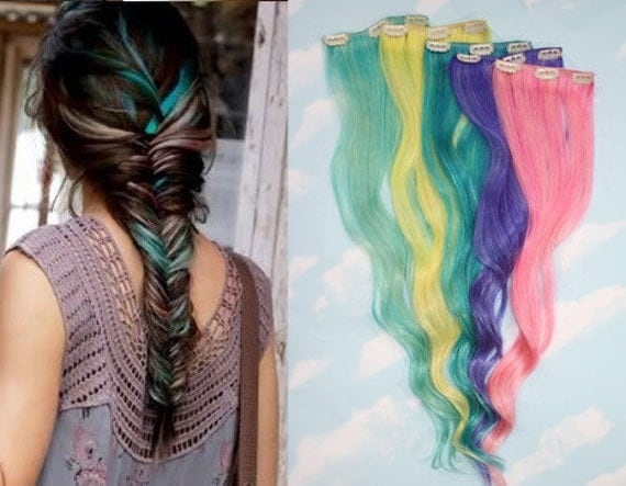 valentines day hair colored hair extensions free people